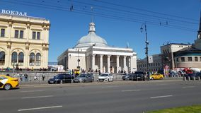 Moscow, Russia - May 12. 2018. The building is metro station Komsomolskaya. Moscow, Russia - May 12. 2018 The building is the metro station Komsomolskaya stock video footage