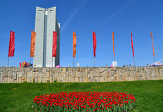 Moscow, Russia - May 09.2016. Central Square during Victory Day  in Zelenograd Royalty Free Stock Images