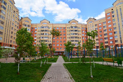 Moscow, Russia - May 11.2016. district number 20 in Zelenograd Stock Photography