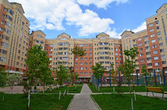 Moscow, Russia - May 11.2016. district number 20 in Zelenograd Stock Photos
