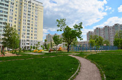Moscow, Russia - May 11.2016. district number 20 in Zelenograd Stock Photo