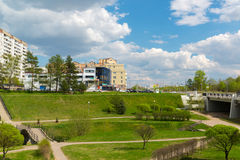 Moscow, Russia - May 06.2016. 16 districts of Zelenograd Administrative District Royalty Free Stock Photos