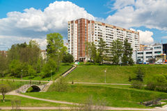 Moscow, Russia - May 06.2016. 16 districts of Zelenograd Administrative District Stock Image