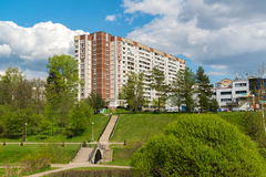 Moscow, Russia - May 06.2016. 16 districts of Zelenograd Administrative District Royalty Free Stock Photo