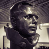 MOSCOW, RUSSIA - MAY 31, 2016: Famous cosmonaut Gagarin bronze head statue in space museum Stock Image