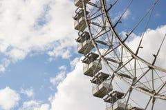 MOSCOW, RUSSIA – MAY 2016: Ferris wheel in Izmailovsky park. Royalty Free Stock Photos