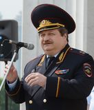 First Deputy Chief of the Main Directorate for Road Traffic Safety of the Ministry of Internal Affairs of the Russian Federation L. MOSCOW, RUSSIA - MAY 29, 2015 Stock Photography