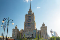 Moscow, Russia - May 14.2016. The hotel Radisson Royal Hotel, one of seven Stalin skyscrapers Royalty Free Stock Photography