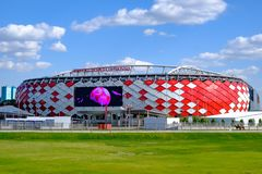 Moscow, Russia - May 30, 2018: Main view of Spartak Stadium stock photos
