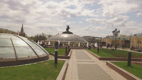 MOSCOW, RUSSIA - 1 May , 2016:  Manezh Square cityscape overlooking stock video footage