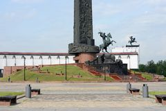 Monument to St. George the Victorious on Poklonnaya Hill in Moscow. Stock Photography