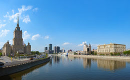 MOSCOW, RUSSIA - MAY 01: Moscow Panorama - Stalin's famous skysc Royalty Free Stock Photography