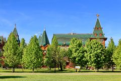 Moscow, Russia - May 11, 2018: Palace of Tsar Alexei Mikhailovich in the Kolomenskoye Museum-Preserve royalty free stock photography
