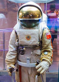 Moscow, Russia - May 31, 2016: Russian astronaut spacesuit in space museum Stock Photos