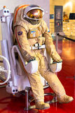 Moscow, Russia - May 31, 2016: Russian astronaut spacesuit in space museum Royalty Free Stock Images