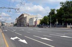 Sadovaya-Kudrinskaya street in Moscow. stock image