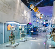 MOSCOW, RUSSIA - MAY 31, 2016: Space museum exposition Royalty Free Stock Photos