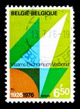 Flemish Economic Organisation, serie, circa 1976. MOSCOW, RUSSIA - MAY 15, 2018: A stamp printed in Belgium shows Flemish Economic Organisation, serie, circa royalty free stock images