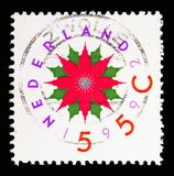 Christmas, December stamps serie, circa 1992. MOSCOW, RUSSIA - MAY 13, 2018: A stamp printed in Netherlands shows Christmas, December stamps serie, circa 1992 Stock Photography