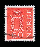 Knot, Local Motives, serie, circa 1967. MOSCOW, RUSSIA - MAY 13, 2018: A stamp printed in Norway shows Knot, Local Motives, serie, circa 1967 Royalty Free Stock Photos