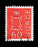 Knot, Local Motives, serie, circa 1967. MOSCOW, RUSSIA - MAY 13, 2018: A stamp printed in Norway shows Knot, Local Motives, serie, circa 1967 Royalty Free Stock Image
