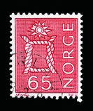 Knot, Local Motives, serie, circa 1968. MOSCOW, RUSSIA - MAY 13, 2018: A stamp printed in Norway shows Knot, Local Motives, serie, circa 1968 Stock Photography