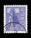 Local Motives, serie, circa 1963. MOSCOW, RUSSIA - MAY 13, 2018: A stamp printed in Norway shows Local Motives, serie, circa 1963 Royalty Free Stock Photos