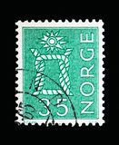 Local Motives, serie, circa 1963. MOSCOW, RUSSIA - MAY 13, 2018: A stamp printed in Norway shows Local Motives, serie, circa 1963 Royalty Free Stock Photography