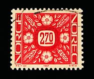 Ornaments, serie, circa 1987. MOSCOW, RUSSIA - MAY 13, 2018: A stamp printed in Norway shows Ornaments, serie, circa 1987 stock image