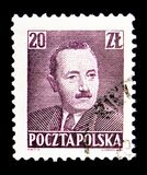 President Boleslaw Bierut (1892-1956), serie, circa 1950. MOSCOW, RUSSIA - MAY 16, 2018: A stamp printed in Poland shows President Boleslaw Bierut (1892-1956) royalty free stock photos