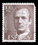 King Juan Carlos I, serie, circa 1981. MOSCOW, RUSSIA - MAY 15, 2018: A stamp printed in Spain shows King Juan Carlos I, serie, circa 1981 stock photos