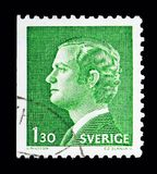 King Carl XVI Gustaf, serie, circa 1978. MOSCOW, RUSSIA - MAY 10, 2018: A stamp printed in Sweden shows King Carl XVI Gustaf, serie, circa 1978 Royalty Free Stock Images
