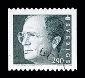 King Carl XVI Gustaf, serie, circa 1993. MOSCOW, RUSSIA - MAY 10, 2018: A stamp printed in Sweden shows King Carl XVI Gustaf, serie, circa 1993 Royalty Free Stock Image