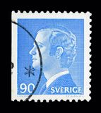 King Carl XVI Gustaf, serie, circa 1975. MOSCOW, RUSSIA - MAY 10, 2018: A stamp printed in Sweden shows King Carl XVI Gustaf, serie, circa 1975 Stock Photos