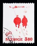 'Politeness ' (cartoon by Oskar Andersson 1905), serie, circa 197 Royalty Free Illustration