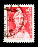 PERSEFONE, grec mythology, Definitive serie, circa 1967. MOSCOW, RUSSIA - MAY 15, 2018: A stamp printed in Syria shows PERSEFONE, grec mythology, Definitive royalty free stock photography