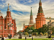 Moscow, Russia - May 24, 2015: The State Historical Museum Stock Photography