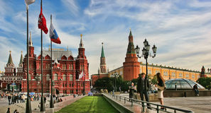 Moscow, Russia - May 24, 2015: The State Historical Museum of Ru Royalty Free Stock Images