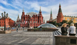 Moscow, Russia - May 24, 2015: The State Historical Museum of Ru Stock Photography
