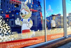 Zabivaka, official symbol of FIFA World Cup 2018 Royalty Free Stock Photography
