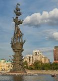 Moscow, Russia, Monument to great Russian tsar Peter 1 Stock Image