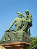Moscow. Russia. Monument to Minin and Pozharsky. stock photos