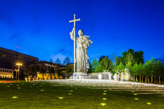 Moscow, Russia. Monument to Prince Vladimir who reportedly brought Christianity to Russia located on Borovitskaya Square near the Kremlin in Moscow, Russia Stock Photos
