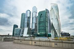 Business Center Of Moscow City Complex Of Skyscrapers. stock photo