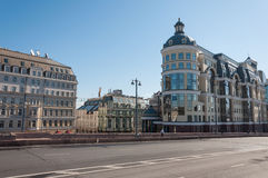 Moscow, Russia - 09.21.2015. Moscow Main Territorial Department of Central Bank of the Russian Federation and Hotel Baltschug Kemp Royalty Free Stock Photo