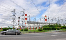 MOSCOW, RUSSIA - 31.06.2015. Mosenergo Energy Company, which is controlled by Gazprom. CHP 26 Stock Images