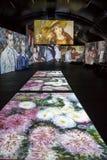 MOSCOW, RUSSIA: Multimedia exhibition in ArtPlay. MOSCOW, RUSSIA, March 2, 2015: Multimedia exhibition of impressionists in ArtPlay Design Center royalty free stock photos