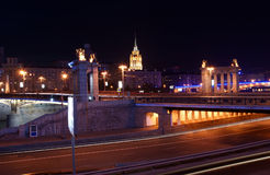Moscow, Russia. Night. Stock Photo