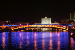 Moscow, Russia. Night. View from the embankment Stock Photos