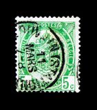 Heraldy, Heraldic blazon serie, circa 1893. MOSCOW, RUSSIA - NOVEMBER 23, 2017: Rare stamp printed in Belgium shows Heraldy, Heraldic blazon serie, circa 1893 Royalty Free Stock Photography